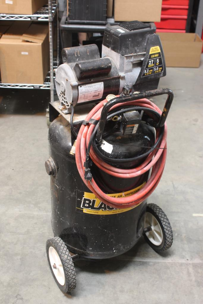 How To Use An Air Compressor >> Coleman Powermate Black Max Direct Drive Air Compressor (Model BL0502710) | Property Room