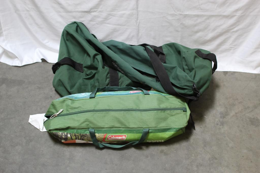 Coleman Tent, And Outdoor Products Duffle Bag 2 Pieces