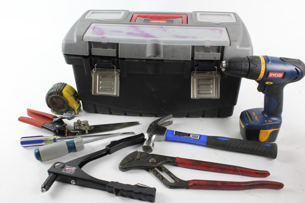 Cordless Drill, Pliers, Tape Measurers And More, Inside Keter