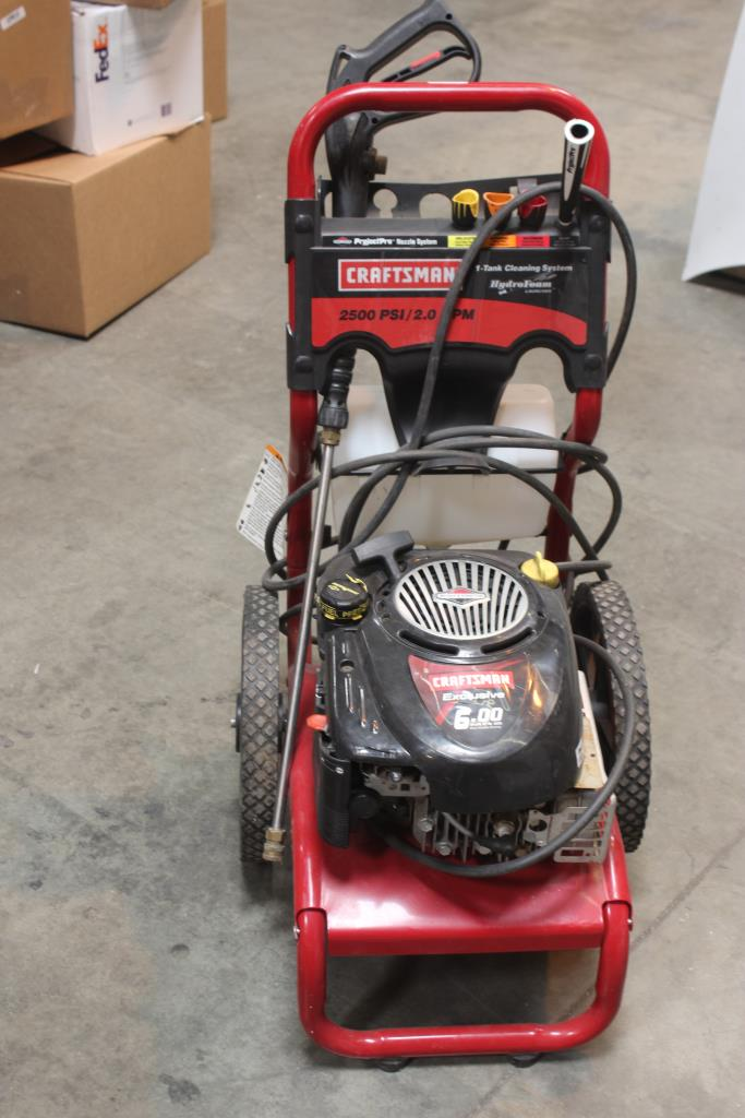 Craftsman pressure washer 2500 psi 2.3 gpm manualidades