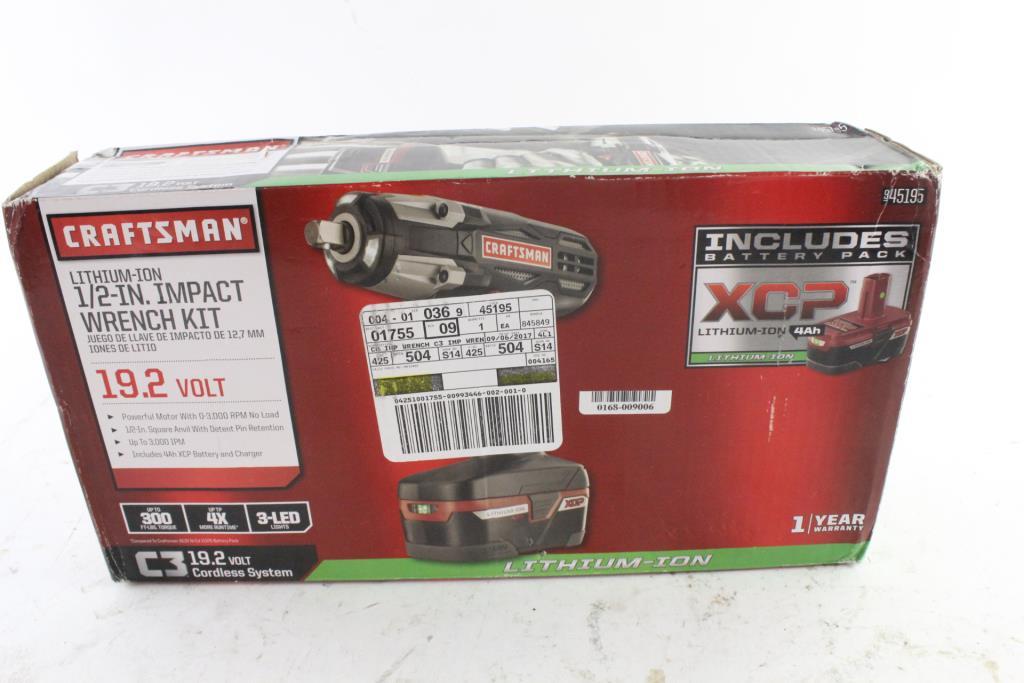 Craftsman Cordless Impact Wrench Kit