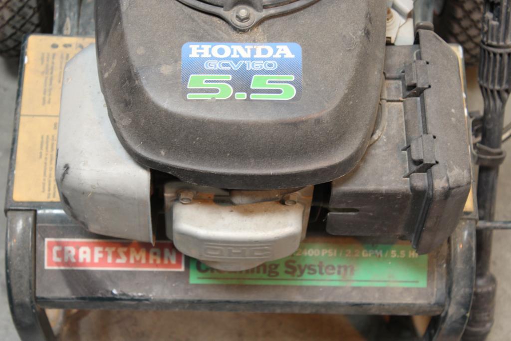 Craftsman Honda Gcv160 5 5 High Pressure Washer Property