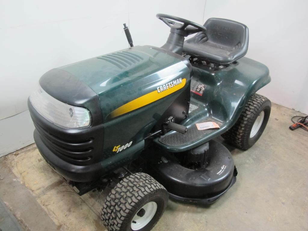 Craftsman Lt1000 Riding Lawn Mower Florida Appt Only