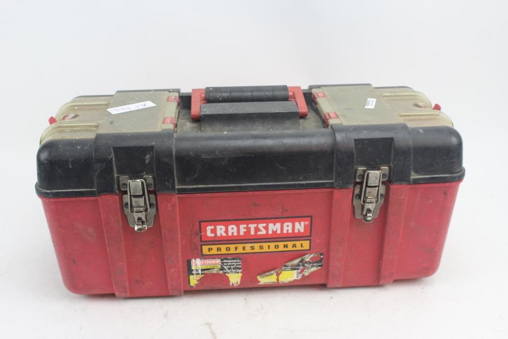 craftsman professional tool box with tools | property room