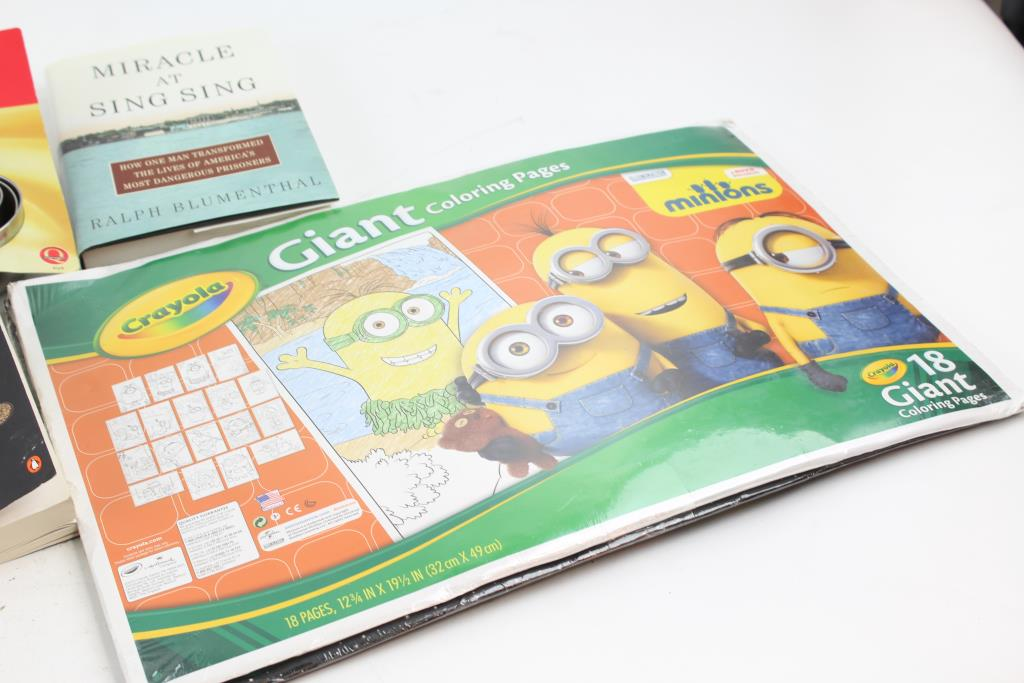 Used New Crayola Giant Coloring Pages Minions 18 Pages!!! for sale ... | 683x1024