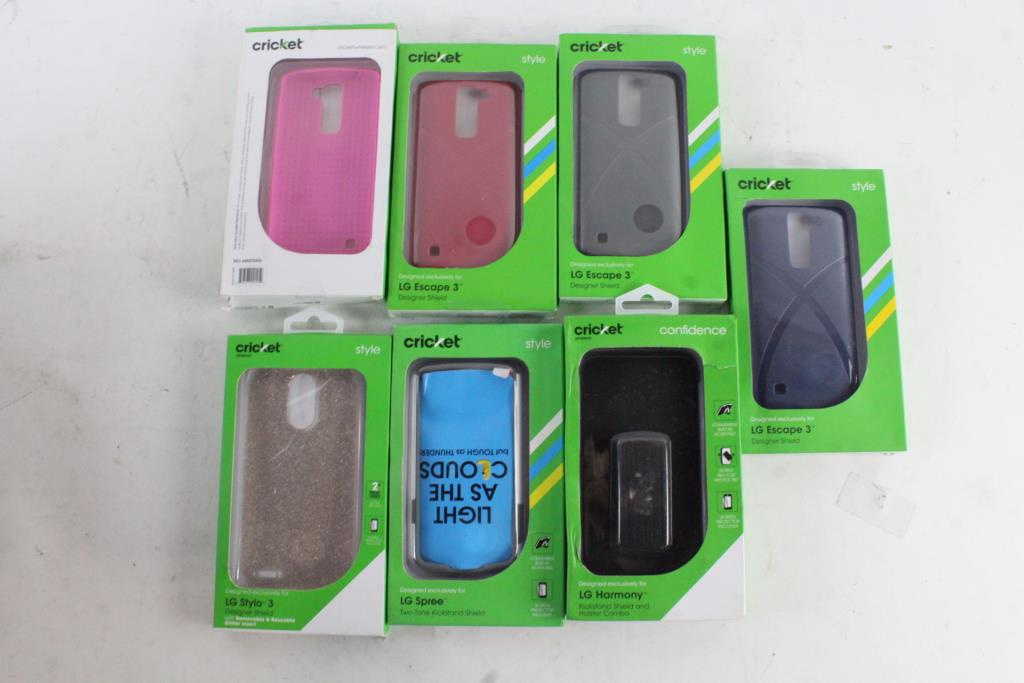 low priced e6992 d8c03 Cricket Style And Confidence Phone Cases, 10+ Pieces | Property Room