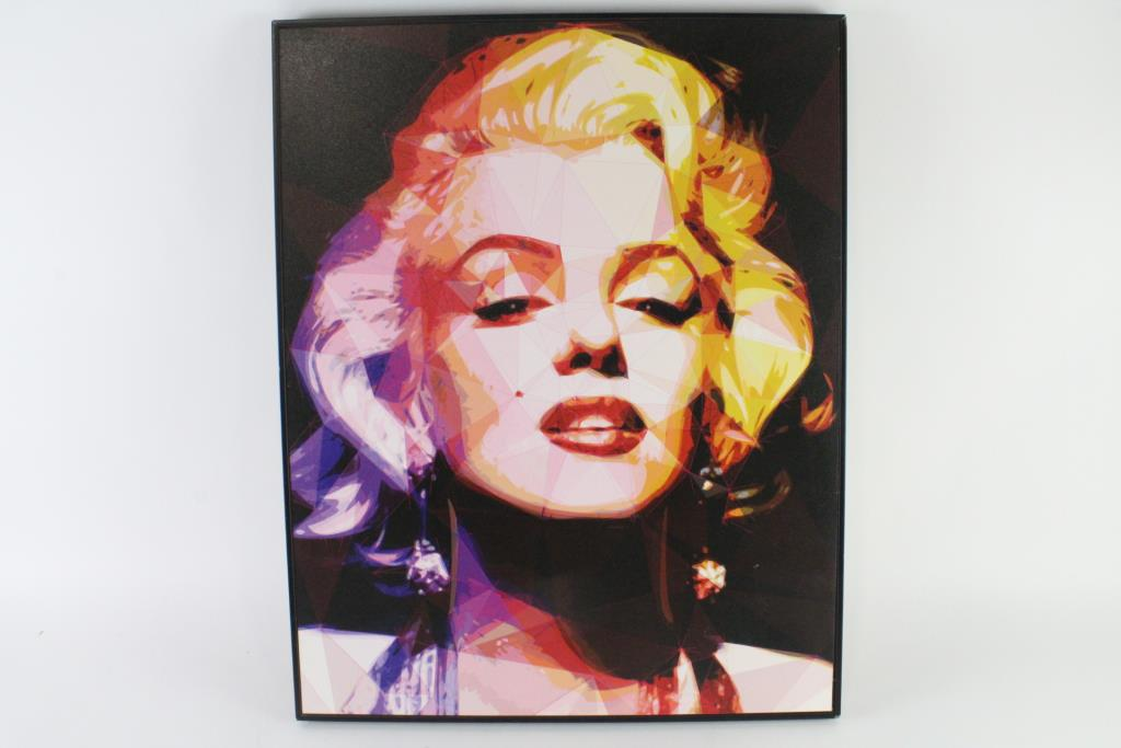 An Image Relevant To This Listing. Crystal Art Gallery Marilyn Monroe Wall  Art