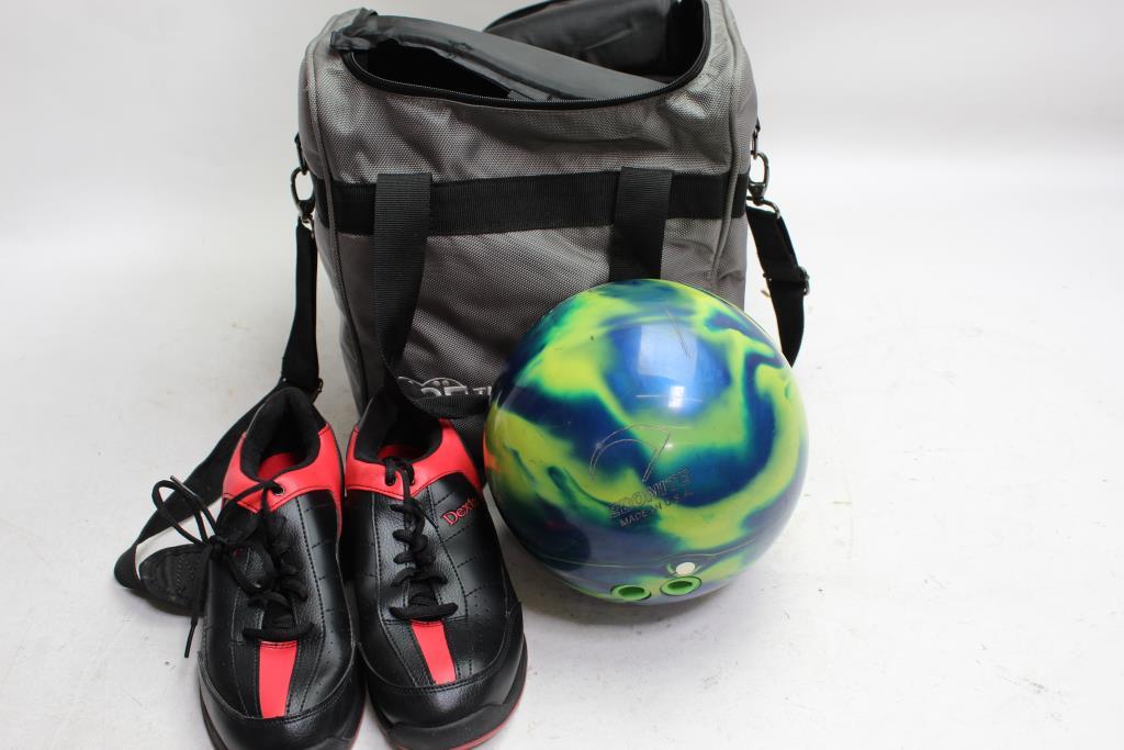 Cyclone Bowling Ball Vise Bag Dexter Shoes Bulk Lot 3 Pieces
