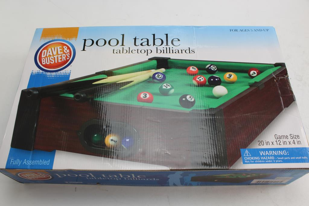 Dave Busters Pool Table Tabletop Billards Property Room - Tabletop pool table full size