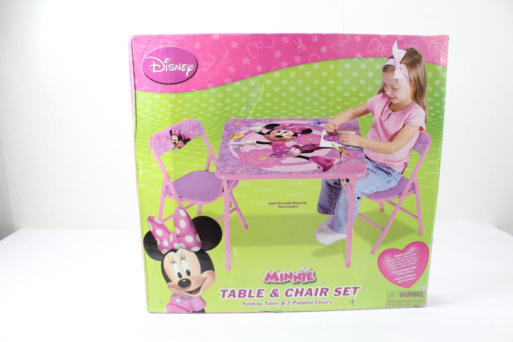 Disney 44716 Minnie Mouse Table u0026 Chair Set 3 Items & Disney 44716 Minnie Mouse Table u0026 Chair Set 3 Items | Property Room