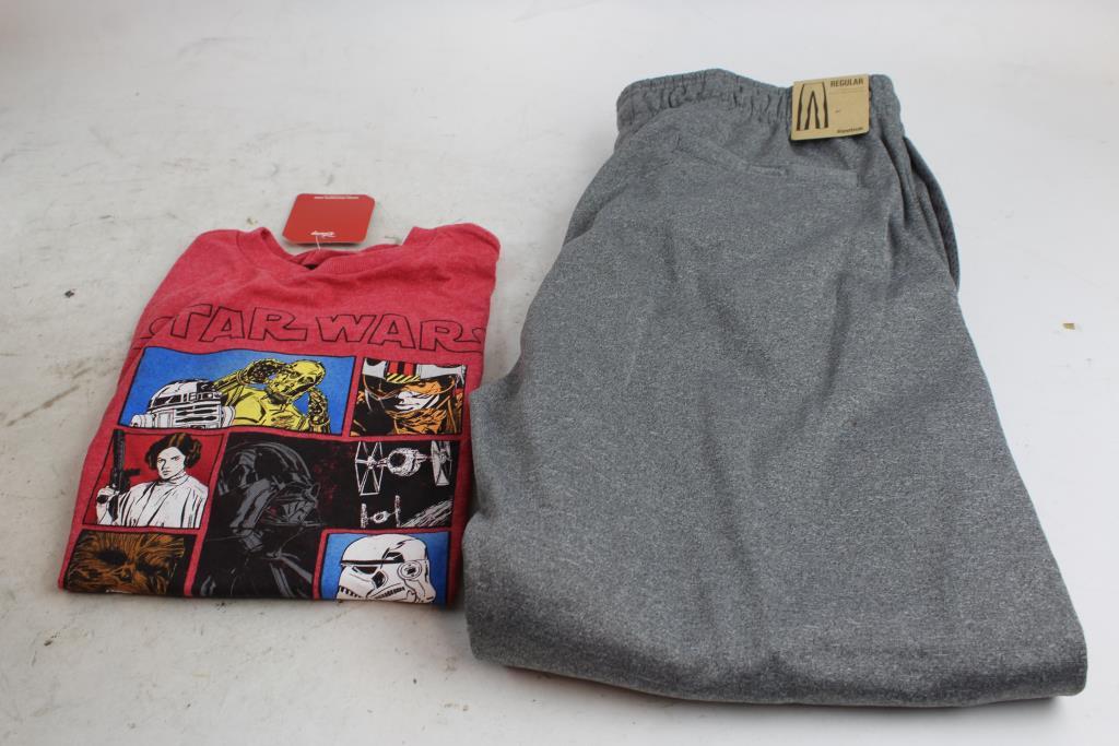 4b9cfa4db184 Disney Star Wars Kids Shirt And Reebok Sport Men s Sweatpants ...