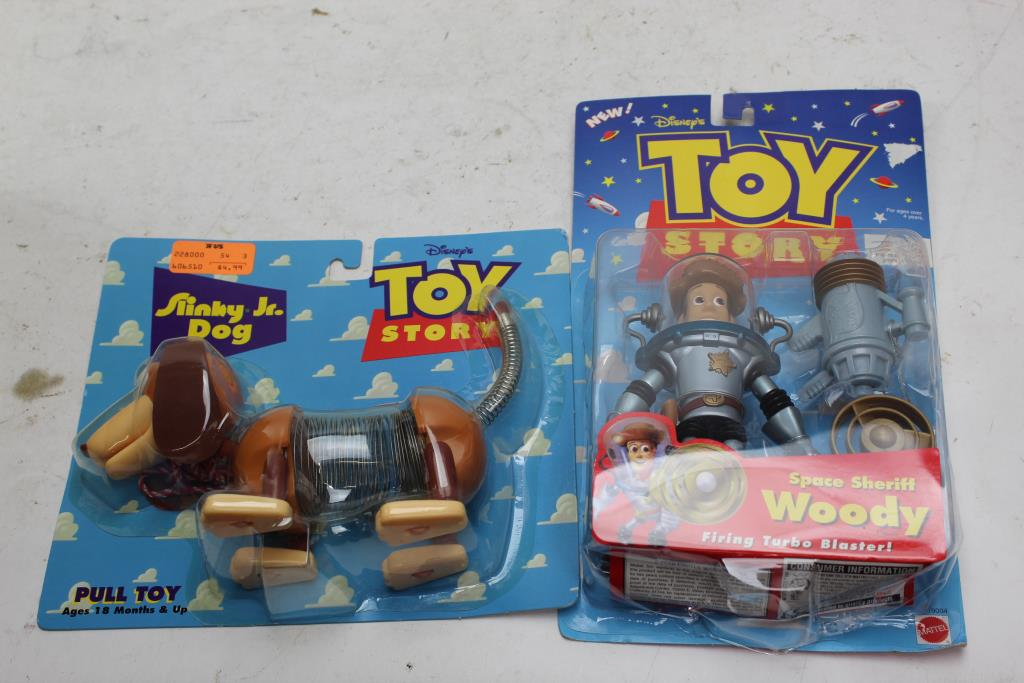 Disney Toy Story Woody And Slinky Dog Toys 2 Pieces Property Room