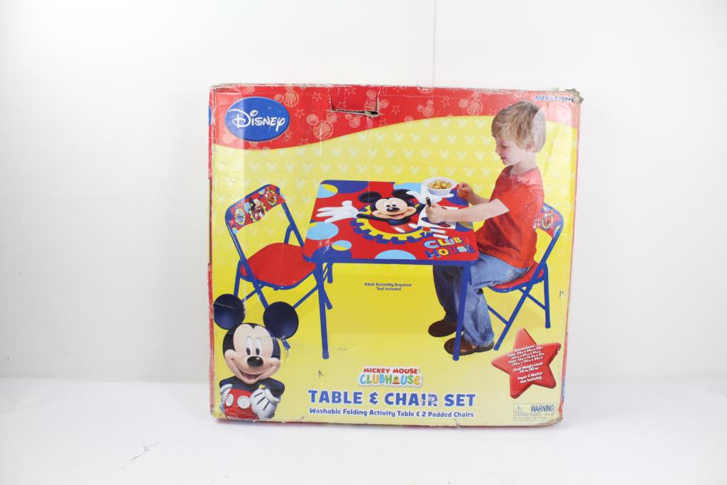 Disney S 78660 Mickey Mouse Club House Table Chairs 3