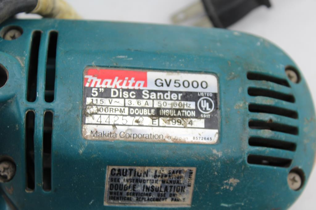 Drill Master Angle Grinder Makita Disc Sander 2 Items