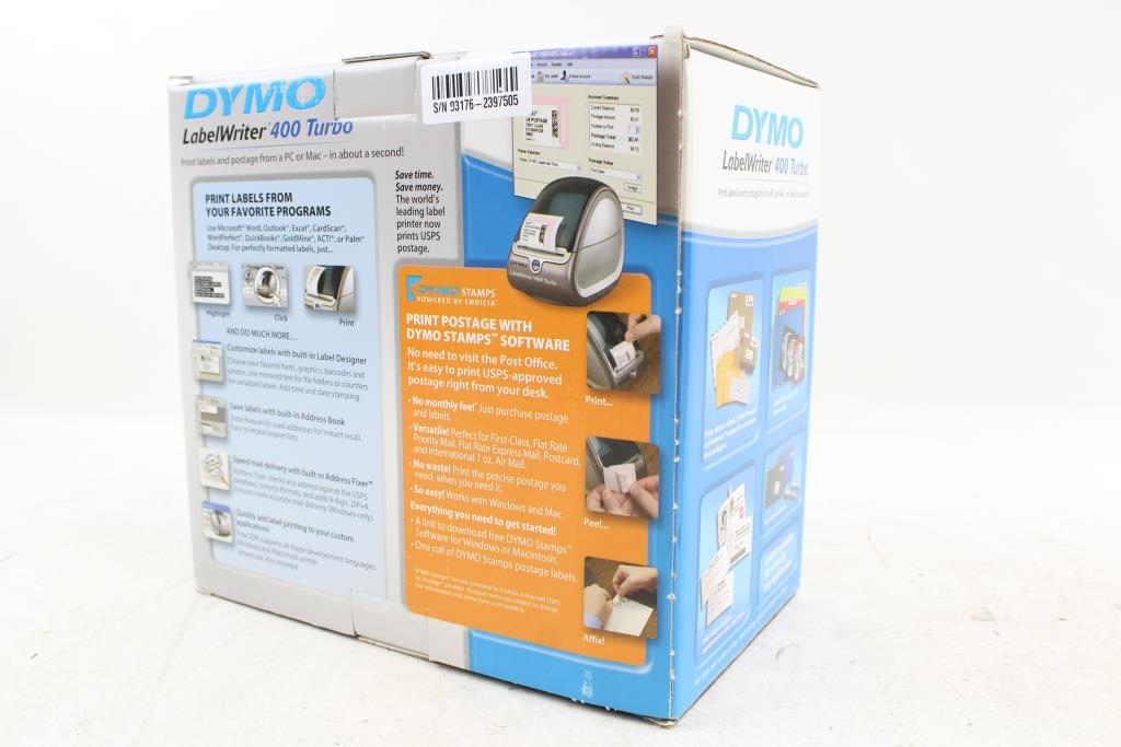 Dymo LabelWriter 400 Turbo Direct Thermal Label Printer