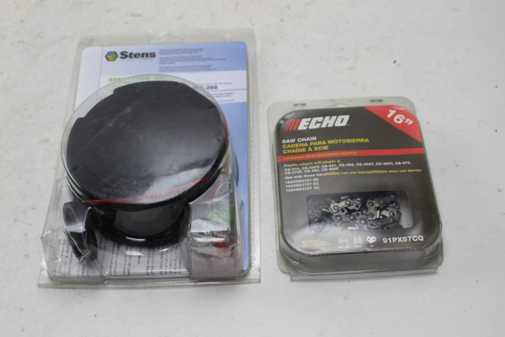 Echo Saw Chain, Stens Speed Feed Trimmer Head 2 Pieces | Property Room