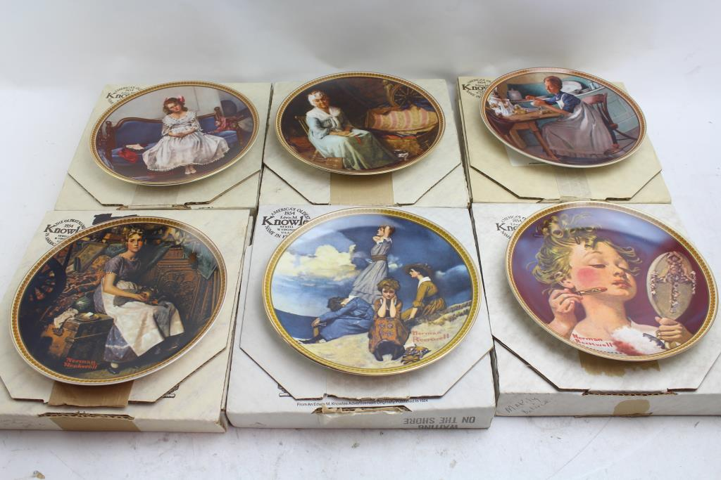 Edwin M. Knowles Craftsmanship Collector Plates: 11 Items | Property ...