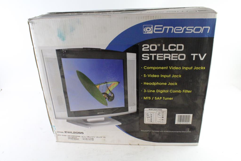 An Image Relevant To This Listing Emerson 20 LCD Stereo TV