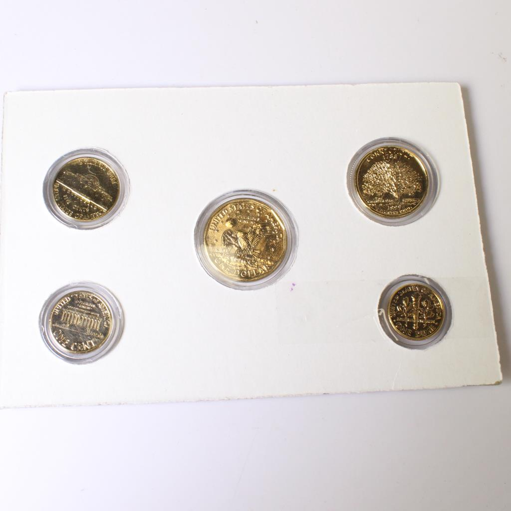 Encased 1999 24kt Gold Plated Uncirculated Coin Set & Encased 1999 24kt Gold Plated Uncirculated Coin Set | Property Room