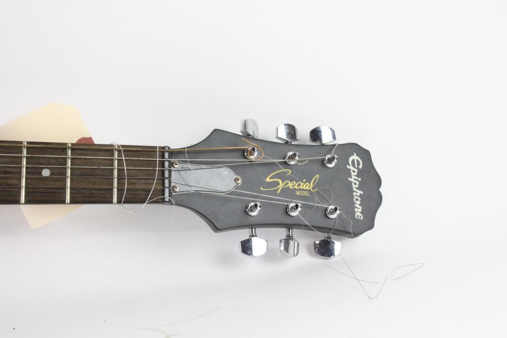Epiphone Les Paul Special Matte Black Electric Guitar Property Room