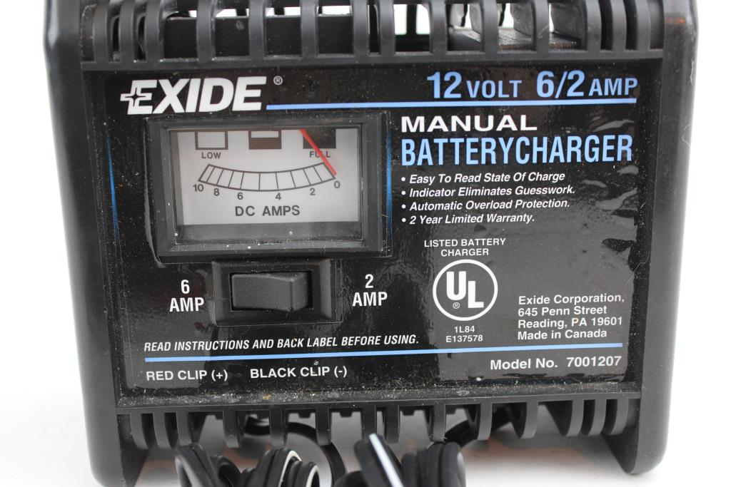 Exide Manual Battery Charger Model 7001207 Property Room