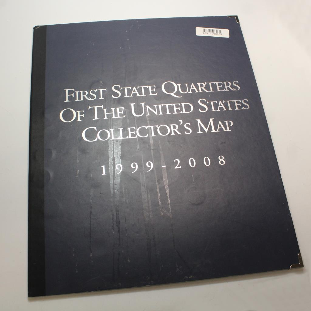 First State Quarters Of The US Collector\'s Map 1999-2008 | Property Room