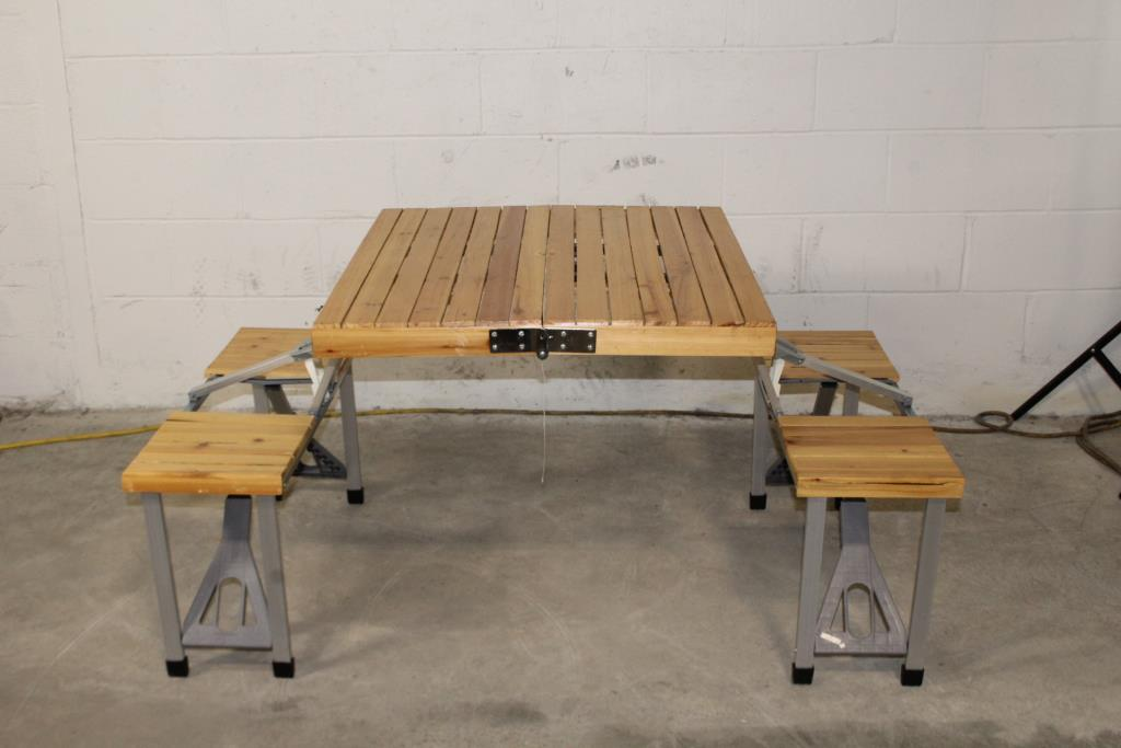 Stupendous Folding Portable Picnic Table Bench Seats 4 Property Room Onthecornerstone Fun Painted Chair Ideas Images Onthecornerstoneorg