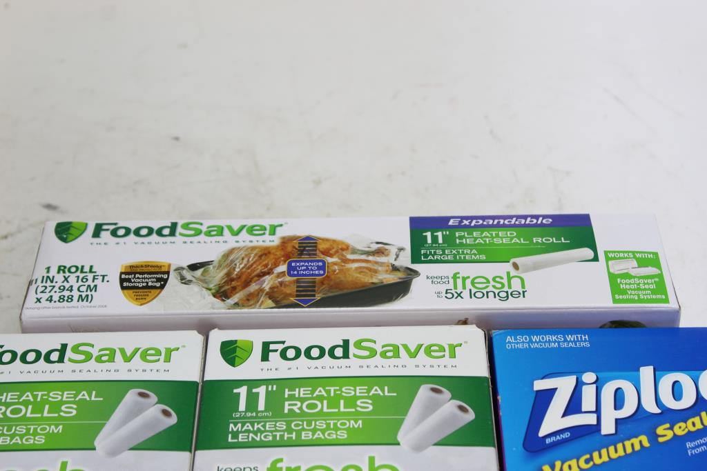 Foodsaver And Ziploc Vacuum Sealer Bags 4 Pieces
