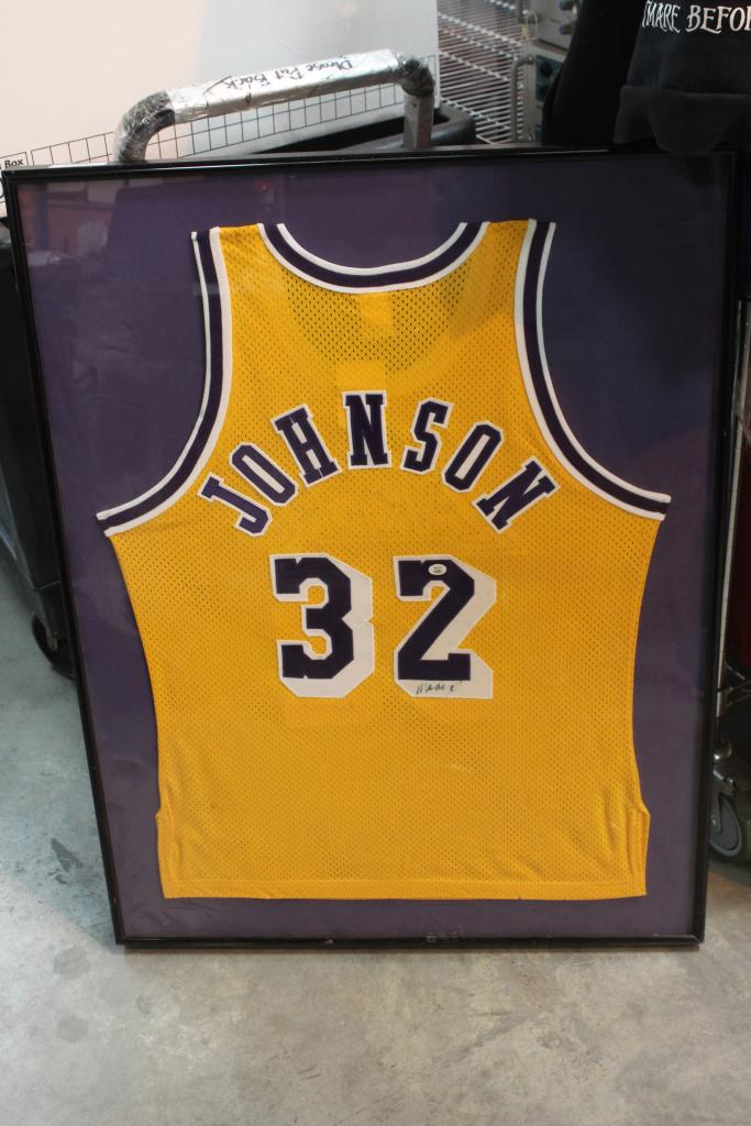 27eab740419 Image 1 of 6. Framed Lakers Jersey With Magic Johnson Autograph