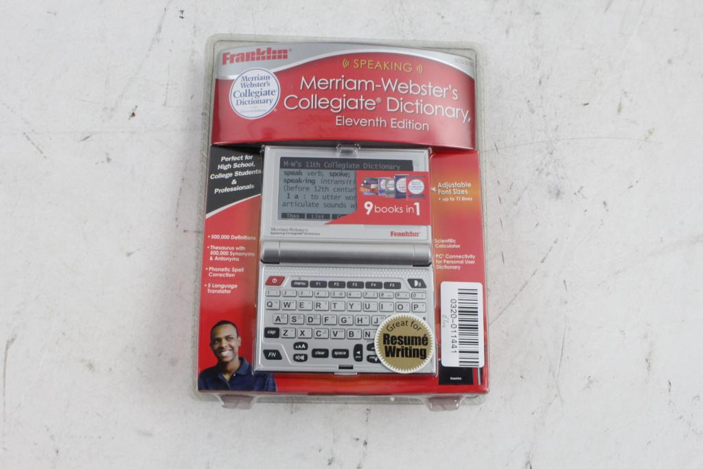 Franklin Merriam-Webster Electronic Talking Dictionary | Property Room