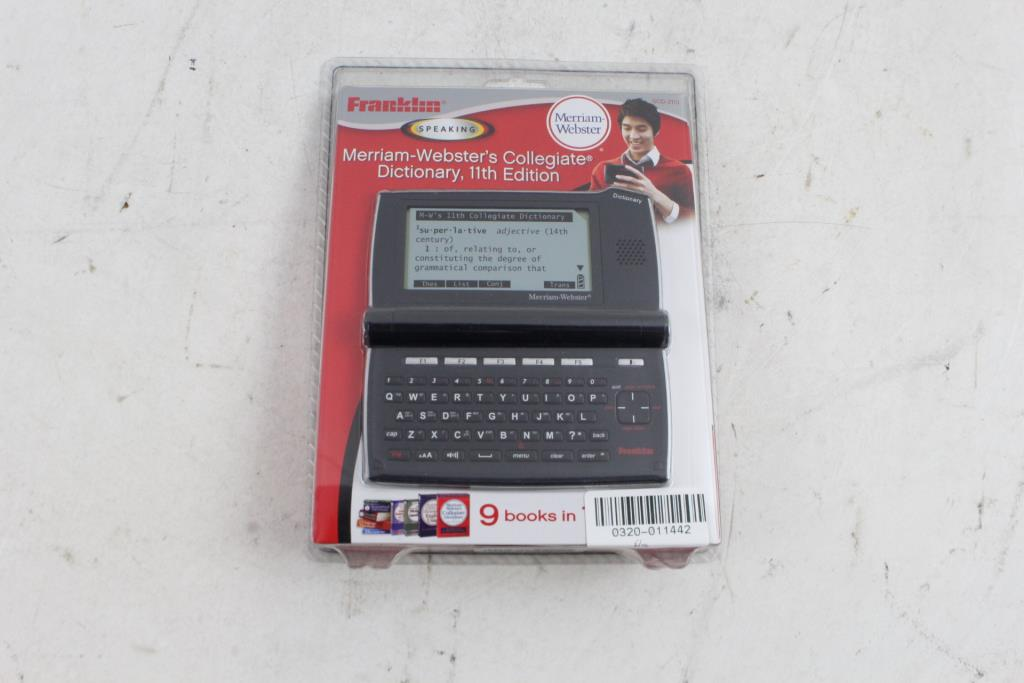Franklin Merriam-Websters Electronic Talking Dictionary | Property Room