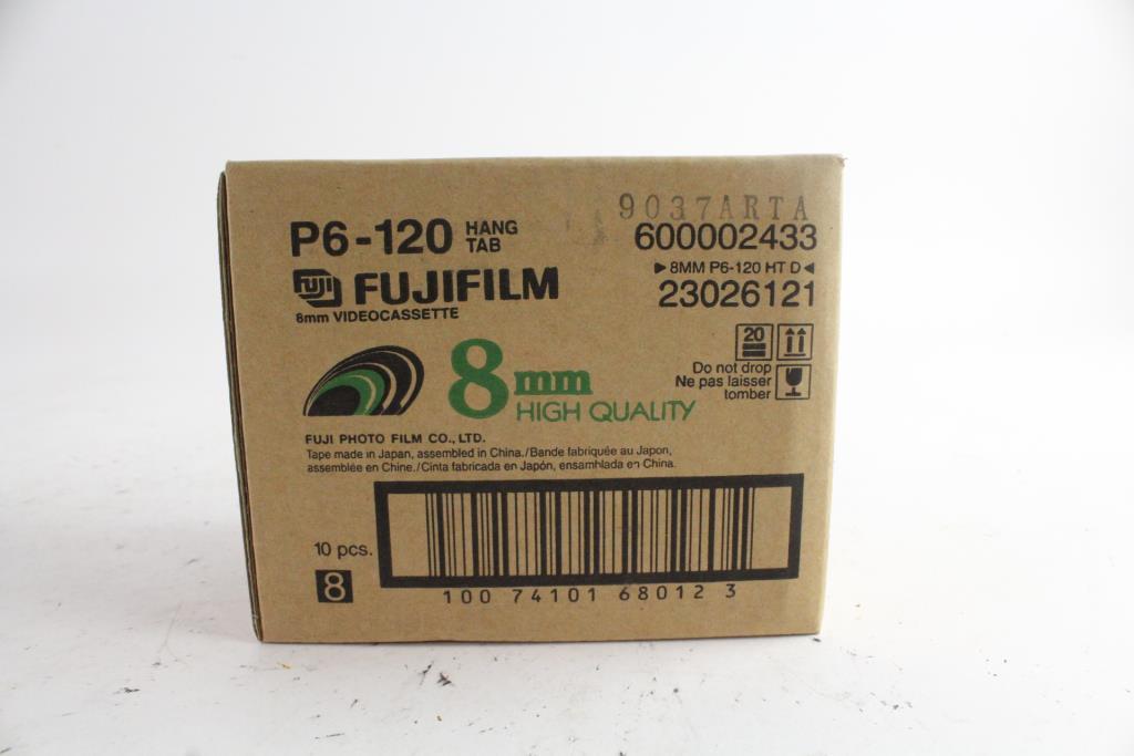 Fuji 8mm P6-120 Video Tape 10 Pack