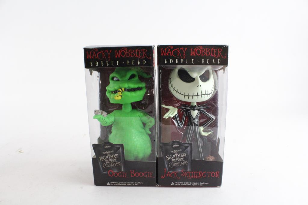 An image relevant to this listing. Funko Wacky Wobbler Bobble-Head, The Nightmare Before Christmas, 2 Pieces