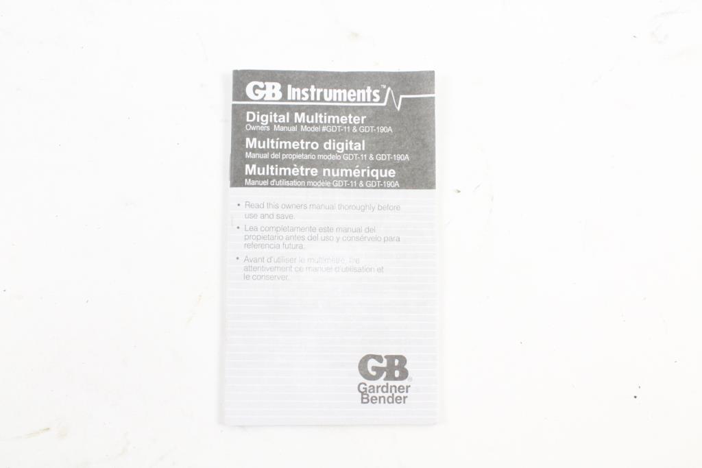 gb instruments gdt 11 manual rh gb instruments gdt 11 manual milesfiles de gb instruments gdt-11 owner's manual GB Instruments GDT-11 Multimeter