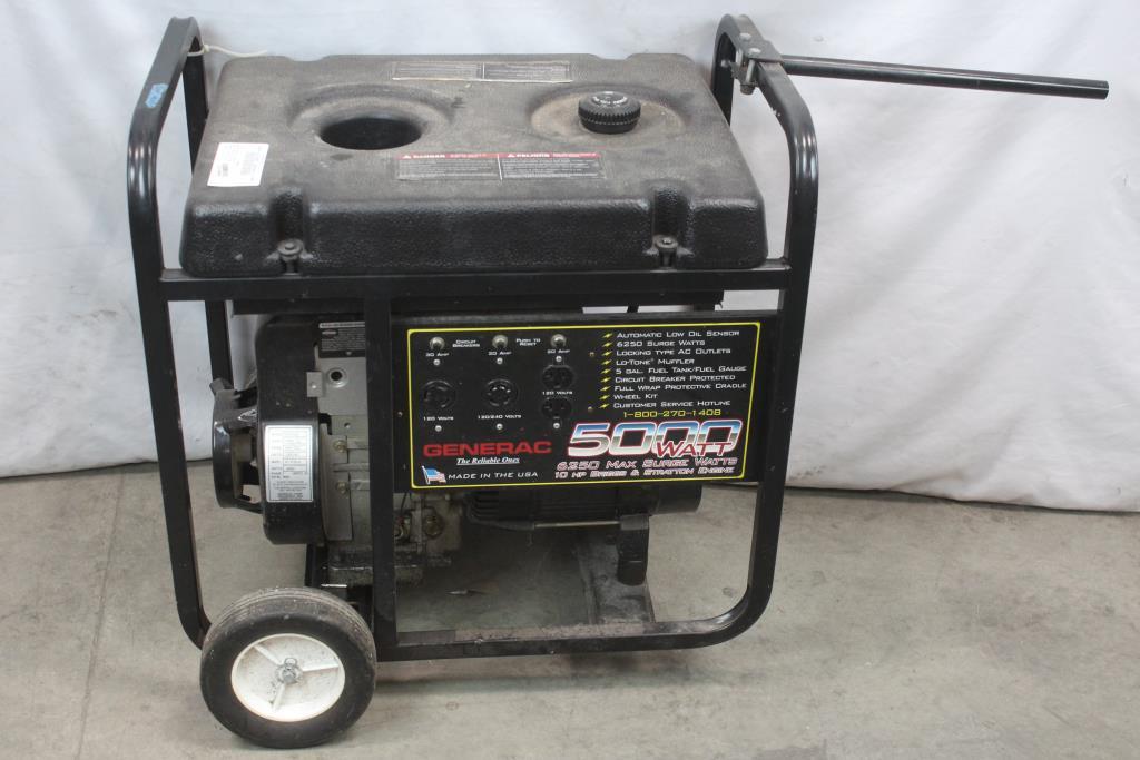 generac 01010-0 5000 watt generator