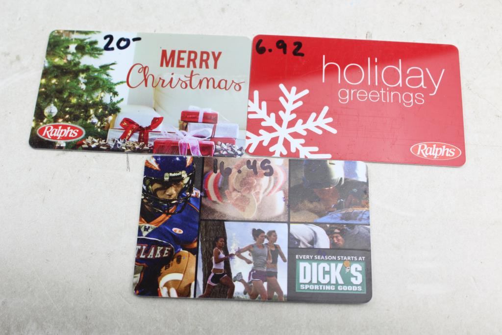 dick s sporting goods gift card gift cards ralphs dick s sporting goods 43 37 value 3 3320