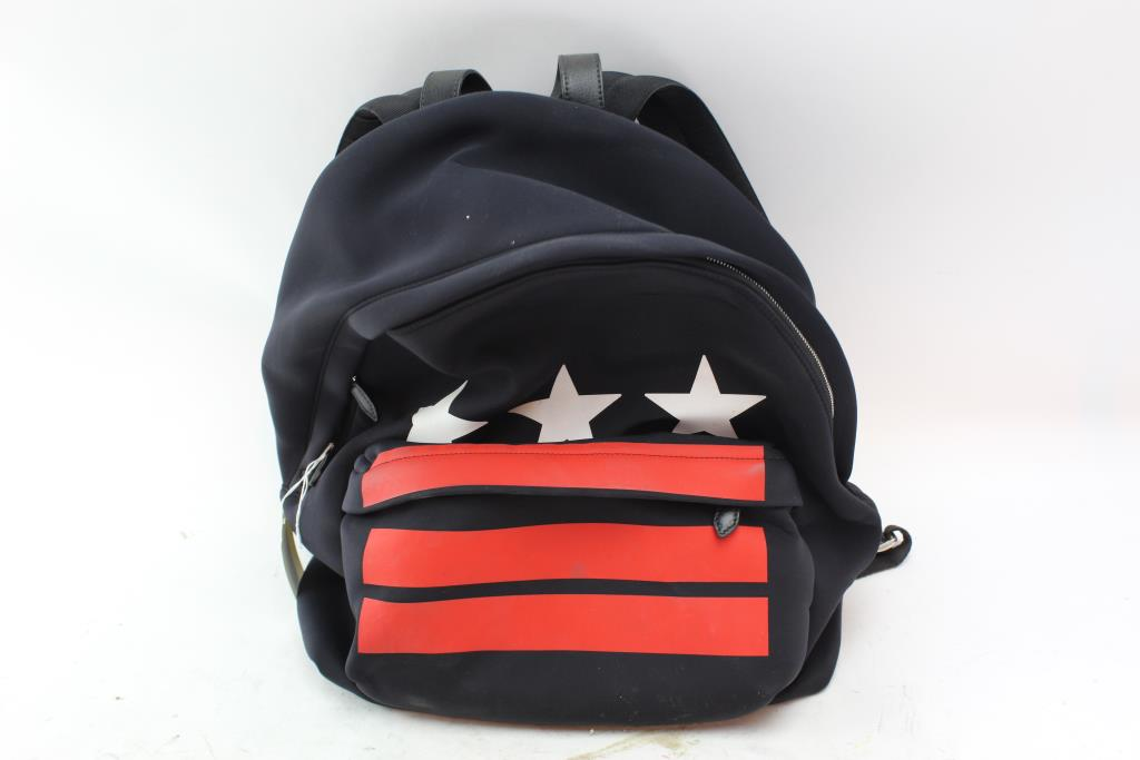 b5ee57a6d67 Givenchy Stars and Stripes Neoprene Backpack | Property Room
