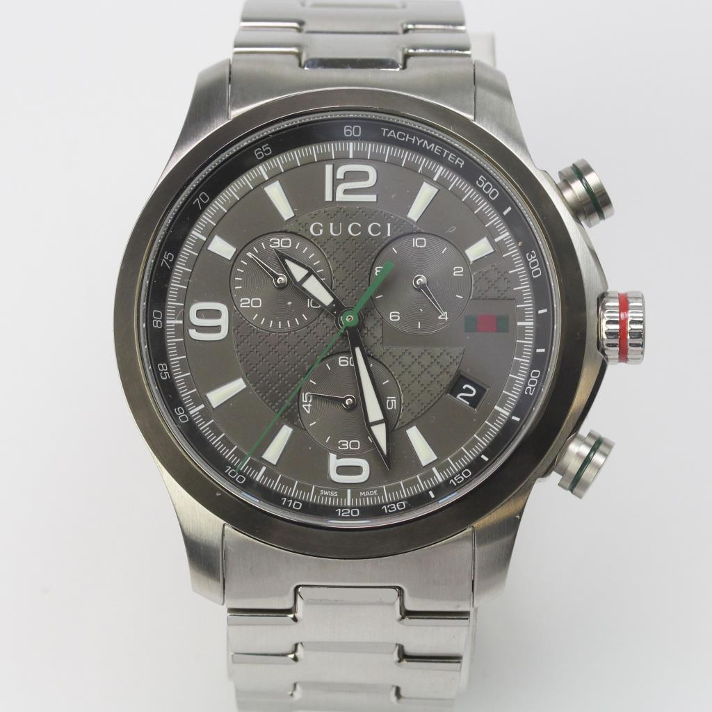 d688c11e3 Gucci G-Timeless Chronograph Stainless Steel Watch | Property Room