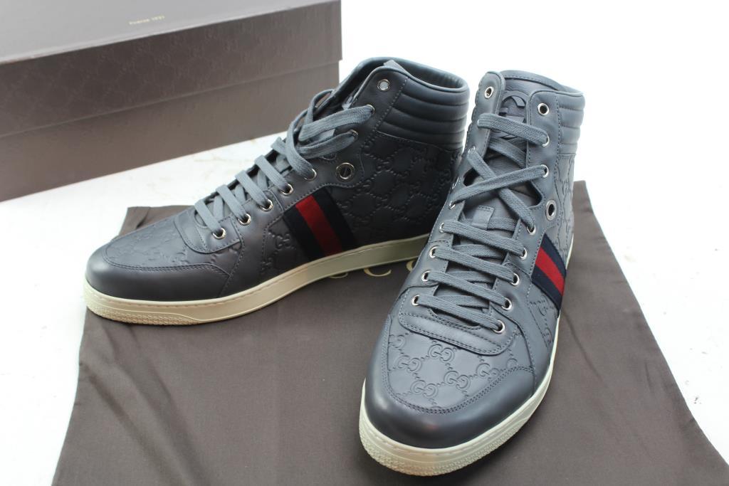 72dff47d4c6 ... black friday men vans sk8 hi pro blackout skate shoes size 12 euc.  Gucci Men S Shoes Size 12. Gucci Men S Shoes Size 12 Property Room