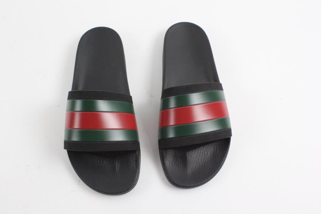 b9e8e7a69ea Image 1 of 2. Gucci Mens Slide Sandals