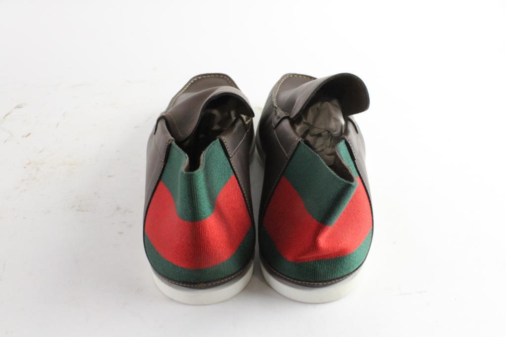 36d2b36288c Gucci Moca Pelle S. Gomma Runner Mens Shoes