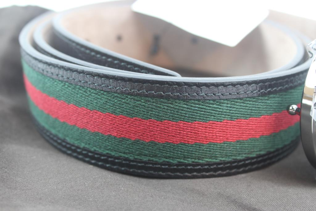 849df1d2bd20f Gucci Signature Web Belt With Interlocking G Buckle  Size 110 44 ...