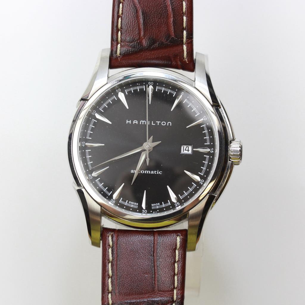 ba9492c4c1a Image 1 of 6. Hamilton Jazzmaster Viewmatic Brown Leather ...