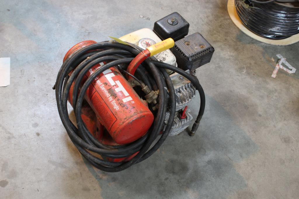 Hilti Emglo Air Compressor With Honda Gx120 Engine ... on electric water heater wiring diagram, a/c compressor wiring diagram, air compressor magnetic starter wiring diagram, 98 ford explorer wiring diagram, kawasaki 4 wheeler wiring diagram, air ride compressor wiring diagram, ford seat wiring diagram,