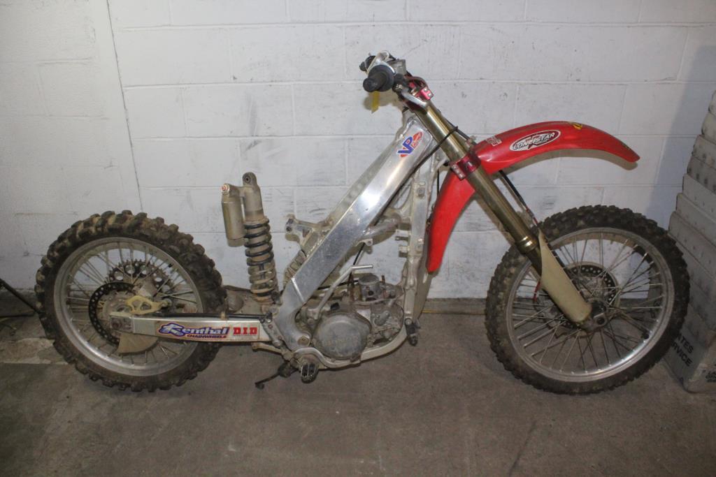 Honda Dirt Bike Frame, VIN Unknown, Sold For Parts