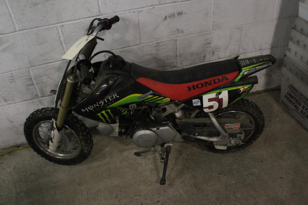 Honda Dirt Bike, VIN Unknown, Sold For Parts | Property Room