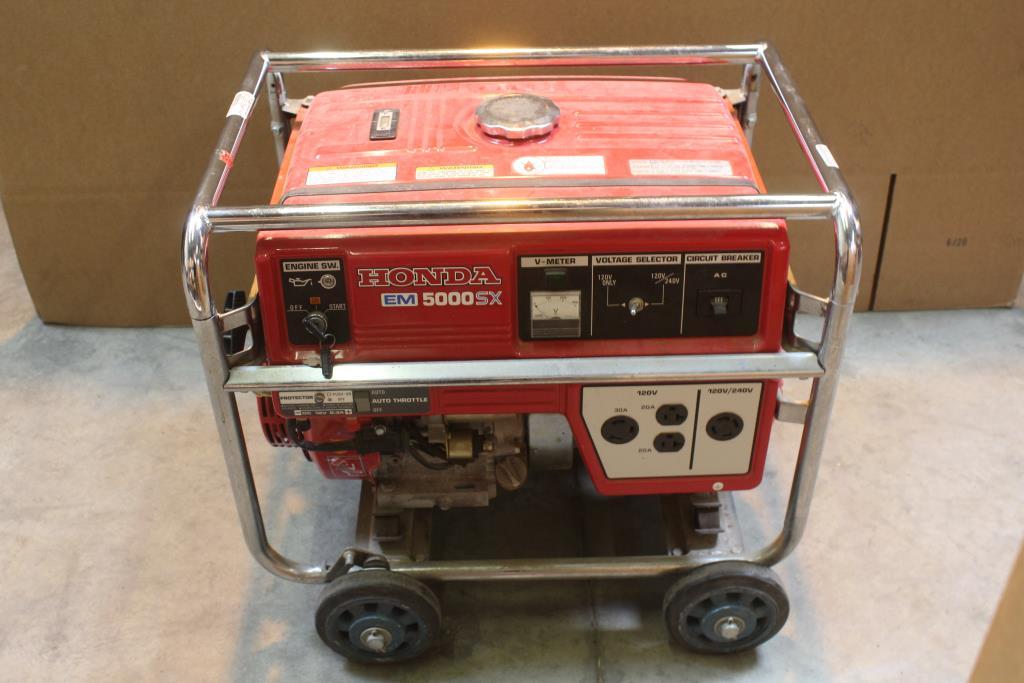 honda em5000sx generator property room rh propertyroom com honda generator em5000sx parts manual honda em5000sx generator shop manual