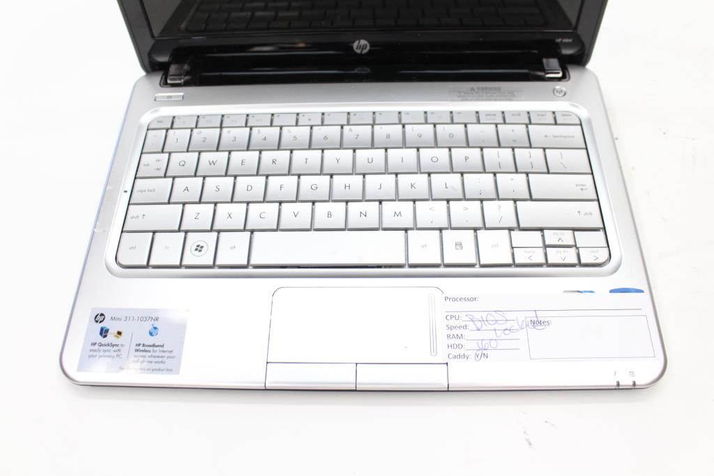 HP Mini 311-1037NR Laptop (No Specs, Bios Locked)   Property Room