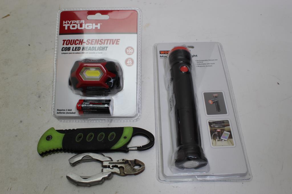 Hyper Tough Headlight Workchoice Work Light Ust Knife