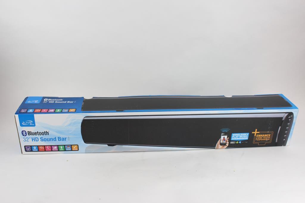 Ilive Blue 32 Hd Sound Bar W Bluetooth